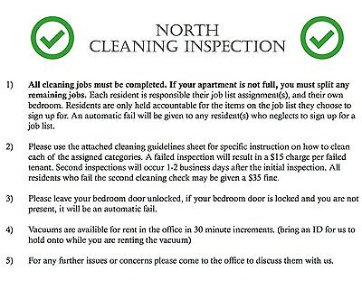 Pass Your Cleaning Check! University Towers Orem