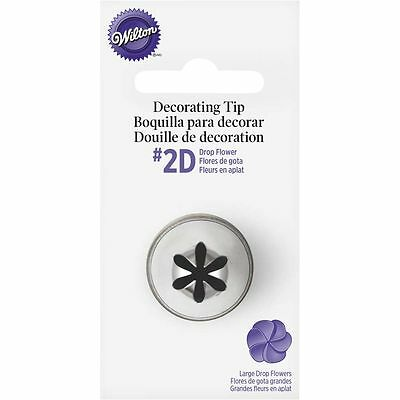 Wilton Icing Tip No. 2D, Large Flower Design, Cake Decorating Nozzles