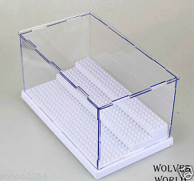 x1 White BIG BOX for LEGO toy display Case minifigure 3 decks collector assemble