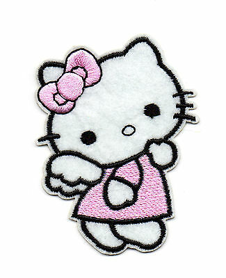 Angel Hello Kitty Iron On Applique Patch