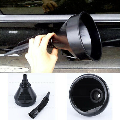 Flexible Black Plastic Flexi Funnel Can Spout For Oil Water Fuel Petrol Diesel