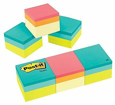 Post-it Sticky Notes Cube 2 X 2 Inch 3 Cube Pack Memo Pad Desk Office Supplies