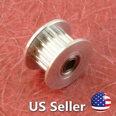 3D Printer Idler Pulley Aluminum Dual Ball Bearing 3mm Bore 16 Teeth GT2 Belt