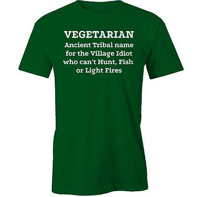 Vegetarian ancient tribal name T-Shirt Tee New