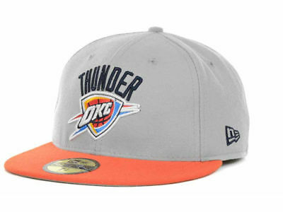 timeless design ff143 b090a Oklahoma City Thunder OKC New Era 59Fifty Fitted Gray NBA Basketball Cap 7  3 4