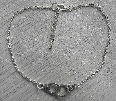 Silver plated chain handcuffs charm anklet ankle bracelet summer