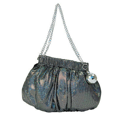 LADIES GLAMOUR #1970s 1980s DISCO BALL HANDBAG FANCY DRESS OUTFIT ACCESSORY