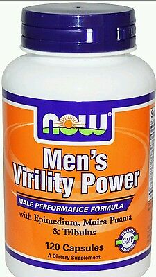 Now Foods Mens Virility Power x120cap with Maca fast 1st class shipping