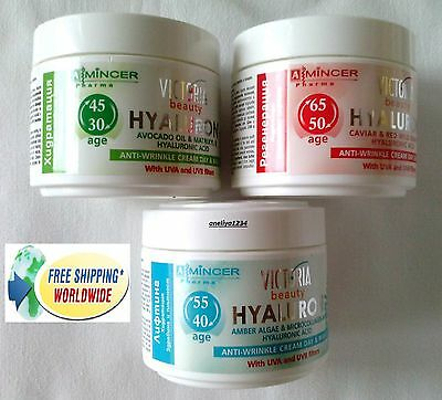 Victoria Beauty Anti-Wrinkle HYALURON Cream, Avocado Oil, HYALURON, GRAPE. MIX