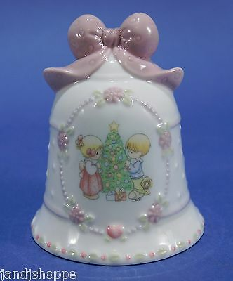 Precious Moments Christmas Porcelain Bell 1997 Holiday Decoration Enesco