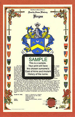 N's CELEBRATION Armorial Name History Coat of Arms Family Crest 11x17 CUSTOM HRC