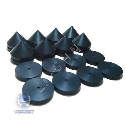 """23mm 0.9"""" Ebony Wooden Speaker Isolation Wood Stand Feet - 8 pcs spikes + Pads"""