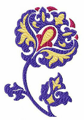 Elegant Flowers: 12 Machine Embroidery Designs 5x7