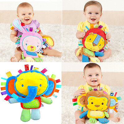 Baby Infant Kids Development Toy Soft Animal Plush Doll Rattle Educational Gift