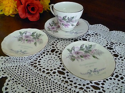 Duchess Cup & Saucer , 2 x scone dishes  silver  Anniversary Wedding anniversary