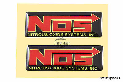 2x NOS NITROUS reflective domed decal sticker motorbike,motor racing,car *gel