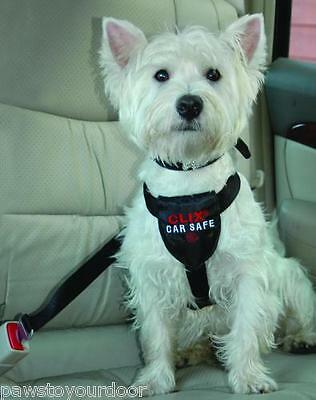 Clix car safe dog puppy harness travel safety seat belt company of animals