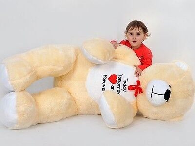 GIANT LARGE BIG HUGE TEDDY BEAR beautiful colour ECRU 180/120 cm SITTING TEDDY