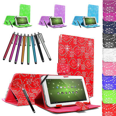 """Universal Kindle Tablet Diamond Sparkle Case Cover For All 10"""" 10.1"""" 9.6"""" 9.7"""""""