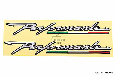 Reflective domed soft-gel Performance performante decal/sticker for motorbike