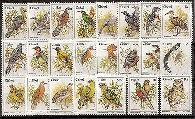 Ciskei 1981 Birds set of 23