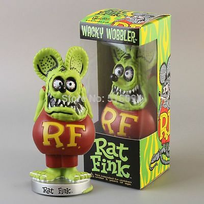 Rat Fink Figure Roth Ed Big Daddy Funko Green Bobblehead Wacky Wobbler Gift Box