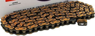 New Heavy Duty Motorcycle Chain 520 120 Link - Gold Colour - Motorbike