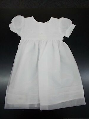 Infant Girls White Christening/Dedication Gown Size 0/3mo - 6/9mo