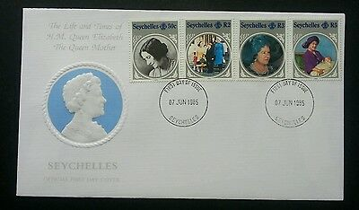 Seychelles The Life And Times Of H.M Queen Elizabeth 1985 Royal (stamp FDC)