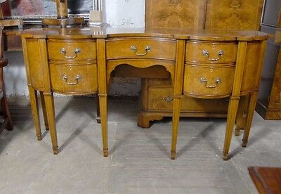 English Pollard Oak Waterloo Regency Sideboard Cabinet