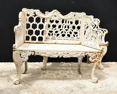Pair Cast Iron Coalbrookdale Horseshoe Garden Benches Seats Bench