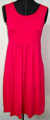 Cute Ladies Annalee + Hope Knit Sundress Hot Pink Fuchsia Racer Back Small S
