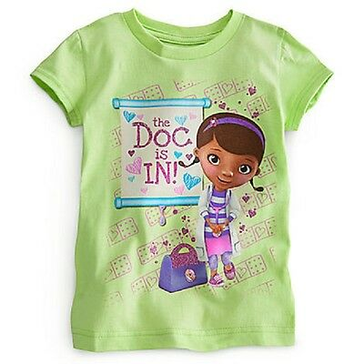 "DISNEY STORE DOC MCSTUFFINS GIRLS TEE T-SHIRT NWT GLITTER  /""NEED A CUDDLE?/"""