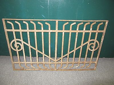Antique Victorian Iron Gate Window Panel Fence Architectural Salvage Door#2
