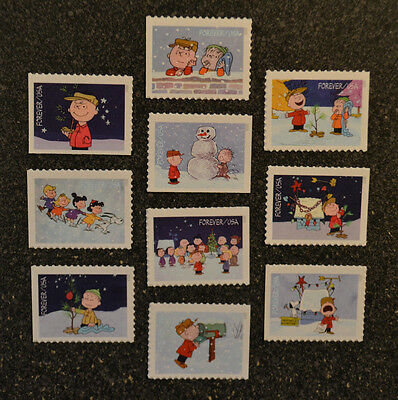 2015USA #5021-5030 Forever Charlie Brown Christmas Set of10 Booklet Singles Mint