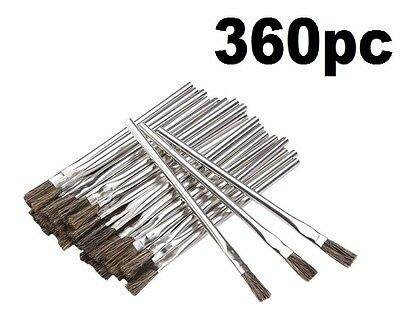 360 Piece 3/8 in. Horsehair Bristle Acid Shop Hobby Brushes Glue Oil Flux