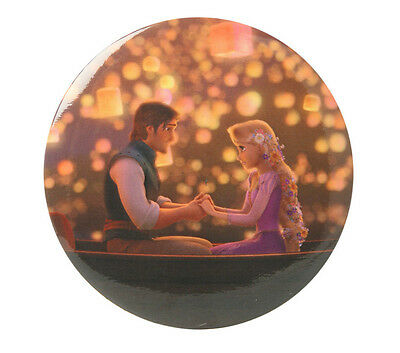 Disney Tangled Cosmetic Button Mirror Make Up Travel Accessory