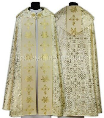 Cream Gothic Cope with matching stole K021-K14 us