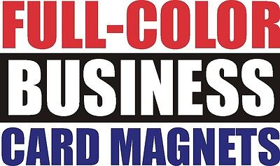 1000 - Full Color -  Business Card -  Magnets