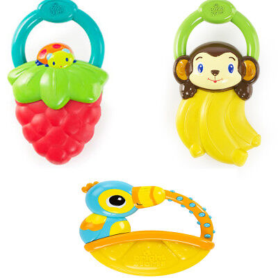 Bright Starts Vibrating Teether to Soothe Baby's Gums - Monkey or Ladybird