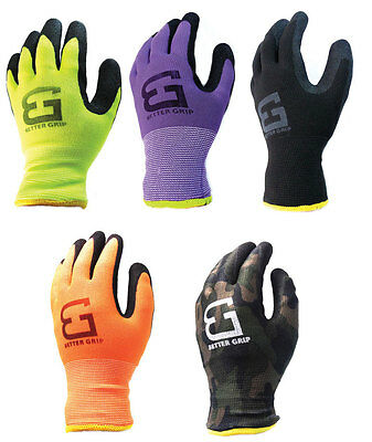 Better Grip Safety Winter Insulatated Double Lining Rubber-Coated Work Gloves