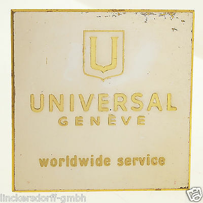 Universal Genève Official Agent Schild / Sign - Shop Display Für Konzessionäre