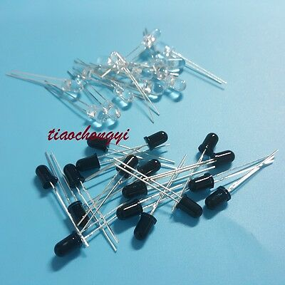 10pcs Launch Emitter + 10pcs Receiver 5mm 940nm IR infrared diode LED Lamp New