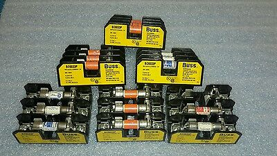 Buss Bc6033P Fuse Block Holders W/ Fuses (Lot Of 6) + 17 Fuses $39