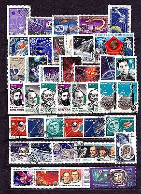 USSR SPACE STAMPS Used