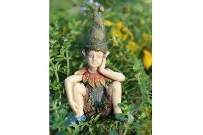 "2.75"" My Fairy Gardens Mini Figure - Elden the Elf - Miniature Figurine Decor"