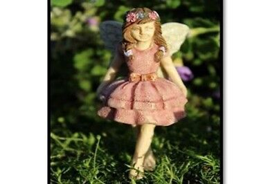 "3"" My Fairy Gardens Mini Figure Pick - Natalie - Pink Miniature Figurine Decor"
