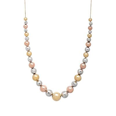 Gradient Bead Necklace in 10K Yellow & Rose Gold-Bonded Sterling Silver
