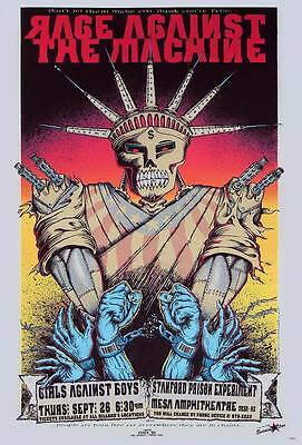 """Rage Against the Machine Tour (1996) POSTER 23""""x34"""" American Rock Concert"""