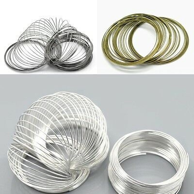 100/500 Loops Stainless Steel Memory Wire for Bracelet Bangle Jewelry Crafts